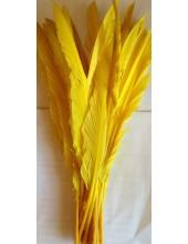 1 шт. Желтый цвет.  Гусиное перо 30-40 см.
