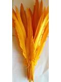 1 шт. Ярко-желтый. Перья петуха 30-40 см. Цветное