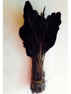 20 шт. Черный цвет.  Кисточка цветная 12-17 см