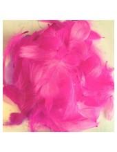 100 шт. Розовый цвет. Гусиное перо 4-9 см. Плавающее