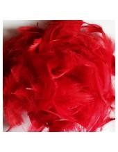 100 шт. Красный цвет. Гусиное перо 4-9 см. Плавающее