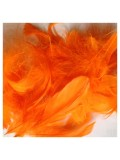 100 шт. Оранжевый цвет. Гусиное перо 4-9 см. Плавающее