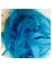 100 шт.  Голубой. Гусиное перо 4-9 см. Плавающее
