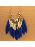 0934. Синий цвет. Подвеска из перьев птиц