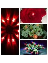 20 шт. Красный цвет. Светодиоды в живые цветы