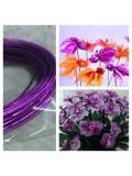 8 м. Фиолетовый цвет. Цветная проволочка для цветов. № 22