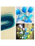 8 м. Голубой цвет. Цветная проволочка для цветов. № 24