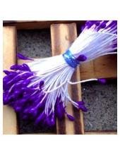02. 50 шт. Фиолетовый цвет. Тычинки на ниточке для цветов