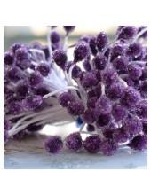 05. 50 шт. Фиолетовый цвет. Тычинки на ниточке для цветов