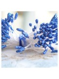 09. 50 шт. Синий  цвет. Тычинки на ниточке для цветов
