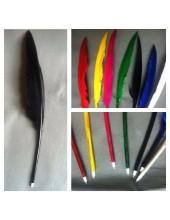 Ш-2. 1 шт. Черный цвет.  Гусиное перо ручка