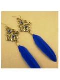 58. Синий цвет. Серьги из перьев птиц