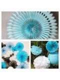 1 шт. Голубой цвет. Веер ажурный. Размер 30 см.