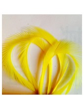 10 шт. Желтый цвет. Гусиное перо 13-18 см. Волосок