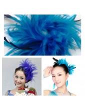 1 шт.  Синий цвет. Заколка для волос из перьев