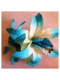 РР-2. Голубой цвет. Заколка цветок