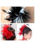 TY-9. Микс цвет. Заколка из перьев птиц для волос
