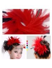 1 шт. Красный цвет. Заколка для волос из перьев