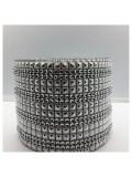 1 м. Серебро цвет. Металлическая тесьма 11 см. Кубики. НА-2