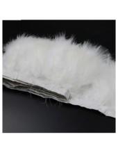 1 м. Белый цвет. Тесьма из перьев боа. Ширина 12-15 см.