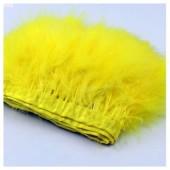 1 м. Желтый цвет. Тесьма из перьев боа. Ширина 12-15 см.