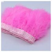 1 м. Розовый цвет. Тесьма из перьев боа. Ширина 12-15 см.