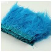 1 м. Голубой цвет. Тесьма из перьев боа. Ширина 12-15 см.