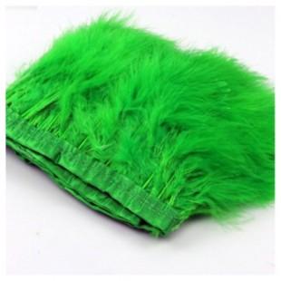 1 м. Зеленый цвет. Тесьма из перьев боа. Ширина 12-15 см.