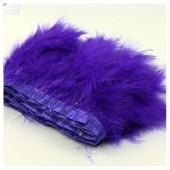1 м. Фиолетовый цвет. Тесьма из перьев боа. Ширина 12-15 см.