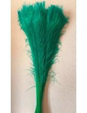 1 шт. Зеленый  цвет. Перо павлина 80-90 см