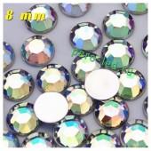 Хамелеон цвет. Стразы Кристаллы акриловые с огранкой. 8 мм. 20 шт  #233