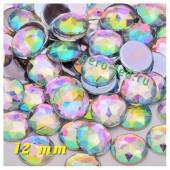 Хамелеон цвет. Стразы Кристаллы акриловые с огранкой. 12 мм . 10 шт  #235