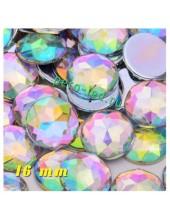 Хамелеон цвет. Стразы Кристаллы акриловые с огранкой. 16 мм е. 20 шт.  #236