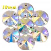 Хамелеон цвет. Стразы Кристаллы акриловые с огранкой. 10 мм . 10 шт.  #334