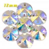 Хамелеон цвет. Стразы Кристаллы акриловые с огранкой. 12 мм . 10 шт.  #335