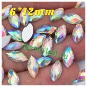 Хамелеон цвет. Стразы Кристаллы акриловые с огранкой. 6*12 мм. 20 шт.  #1122