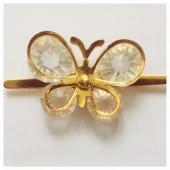 У-17. Золотой цвет. Брошка бабочка.
