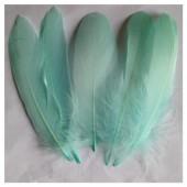 20 шт. Бледно-голубой цвет. Перо Петуха 10-15 см