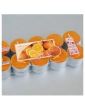 20 шт. Апельсин. Набор ароматических свечей в гильзе. 1уп.