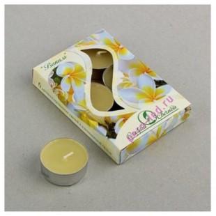 6 шт.  Жасмин. Набор чайный ароматизированных свечей в гильзе. 1уп.