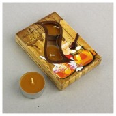 6 шт.  Мёд. Набор чайный ароматизированных свечей в гильзе. 1уп.