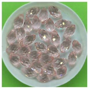 50 шт. Розовый прозрачный цвет. Бусинки стеклярус 6х12 мм. Р-35  № 4