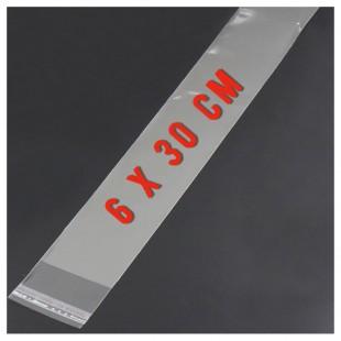 50 шт. Пакет полипропиленовый с клеевым клапаном. 6 х 30 см
