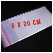 50 шт. Пакет полипропиленовый с клеевым клапаном. 6 х 20 см