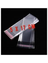 50 шт. Пакет полипропиленовый с клеевым клапаном. 5 х 17 см