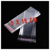 50 шт. Пакет полипропиленовый с клеевым клапаном. 5 х 15 см
