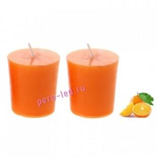 4.5х4.5х4.8 см. Апельсин. Свеча ароматическая 2 столбика