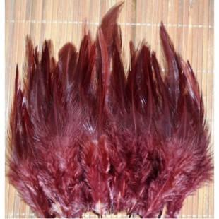 20 шт. Коричневый цвет. Перья петуха 5-10 см. Цветные перья