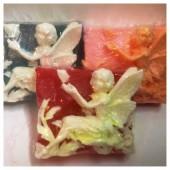 Ангел с бабочкой. Мыло ручной работы. 80 гр