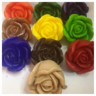 3 розы. Разных цветов. Мыло ручной работы. 180 гр